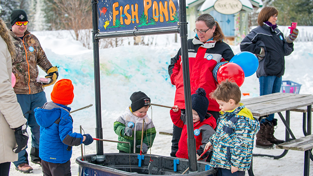winter carnival fish pond