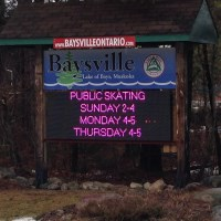 Baysville LED sign