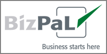BizPal logo that reads business starts here